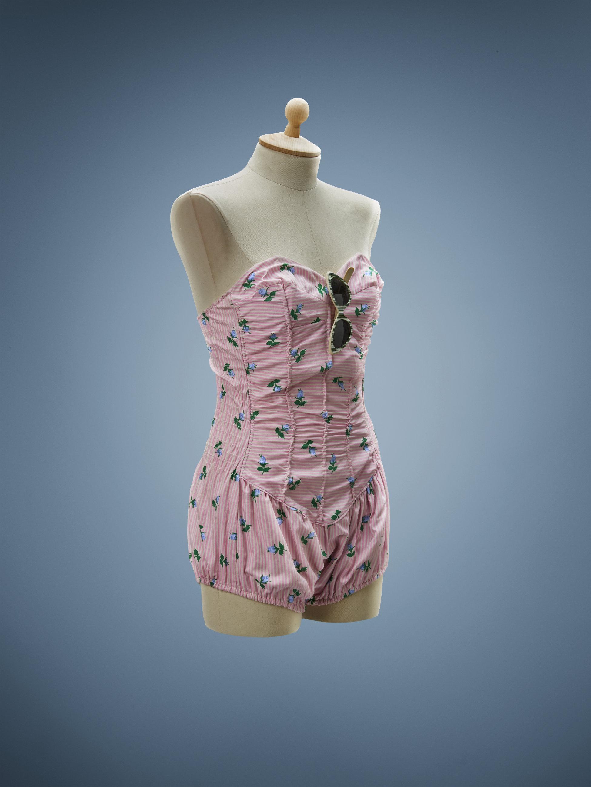 1950s Maillot de bain rose - La compagnie du costume
