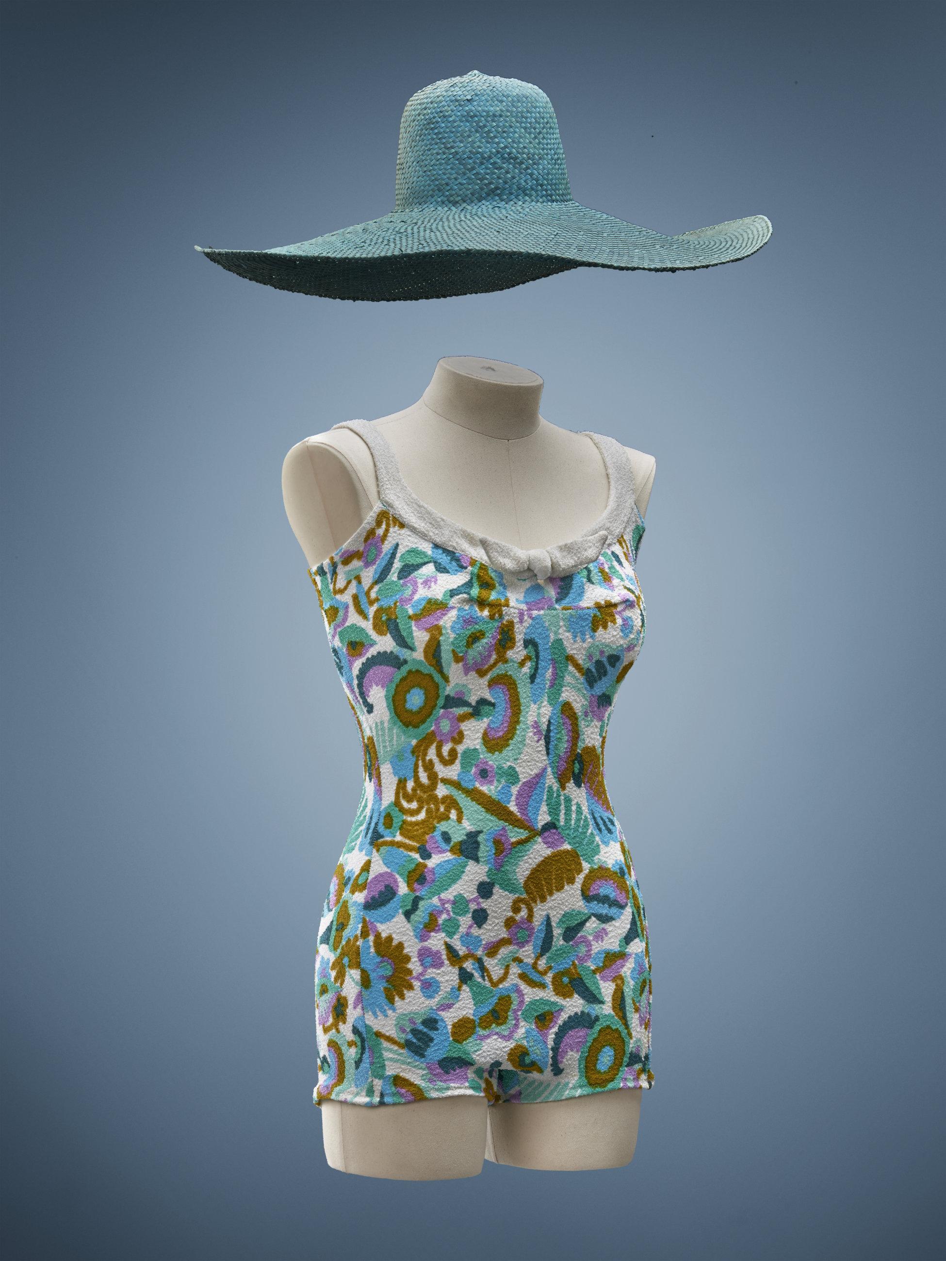 1960s Maillot de bain en éponge - La compagnie du costume